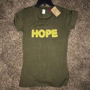 NWT Natural life Hope T-shirt